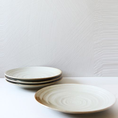 Casual line Oatmeal Round Plate 30, set of 4 / $130.00