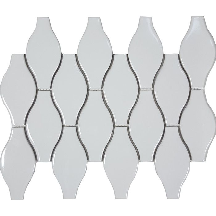 Check out the deal on Tesoro Solid White - Bottle Glossy Mosaic at GBTile Collections
