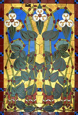 Mosaic, Sandor Apati Abt for V. Zsolnay Ceramics Manufactory, Hungary, 1906
