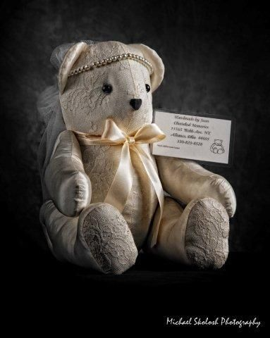 Memories Bear - used the wedding dress to make a keepsake bear out of it.  I would like to do this with my dress.  Don't think my daughter will want to ever wear it.