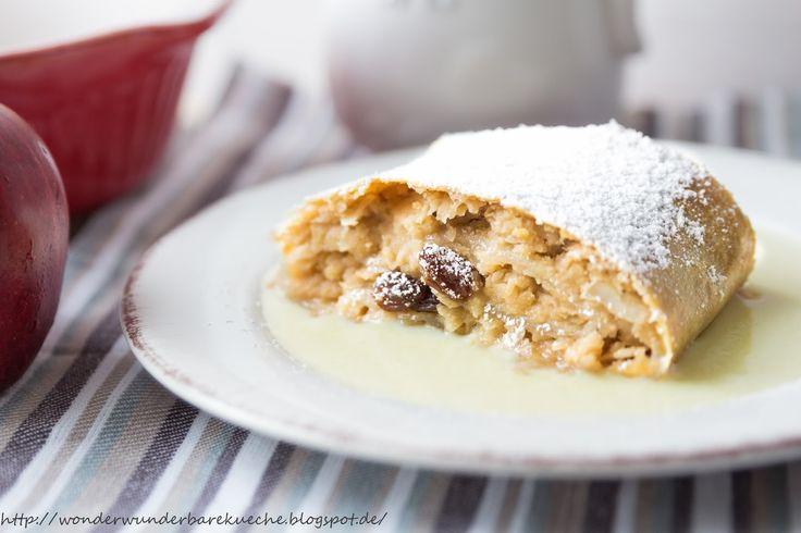 Soulfood Apfelstrudel mit Mandeln