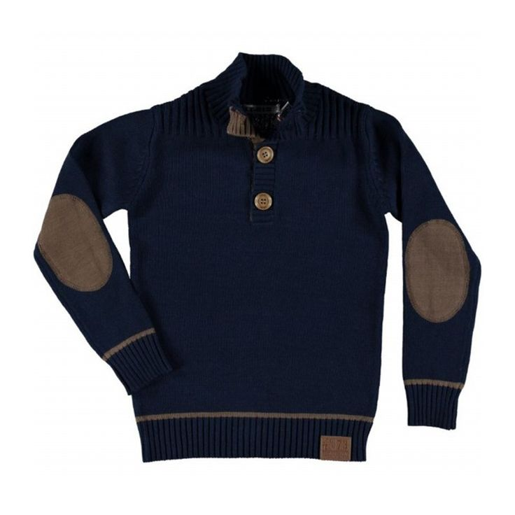 LT-01 Pullover Navy Knopen bij Minimoda. #Jongenskleding #Jongens #Kinderkleding