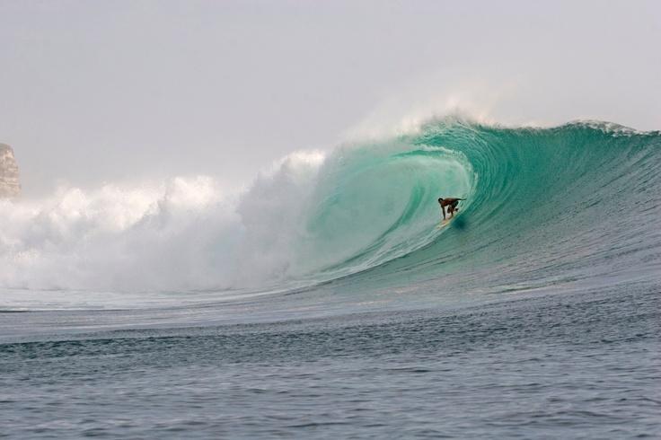 Surfing at Uluwatu, Bali