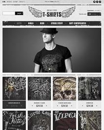 Ce template e-commerce Clicboutic est parfait pour la vente en ligne de t-shirts