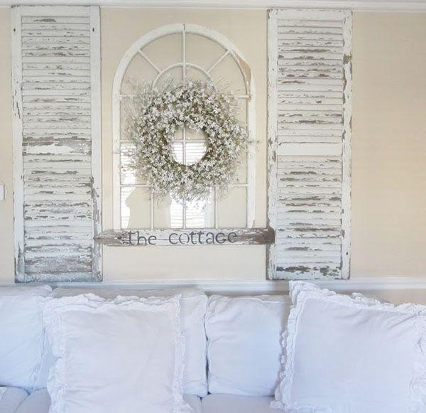 Make a fun shutter headboard - 51 Creative decorating ideas for old windows