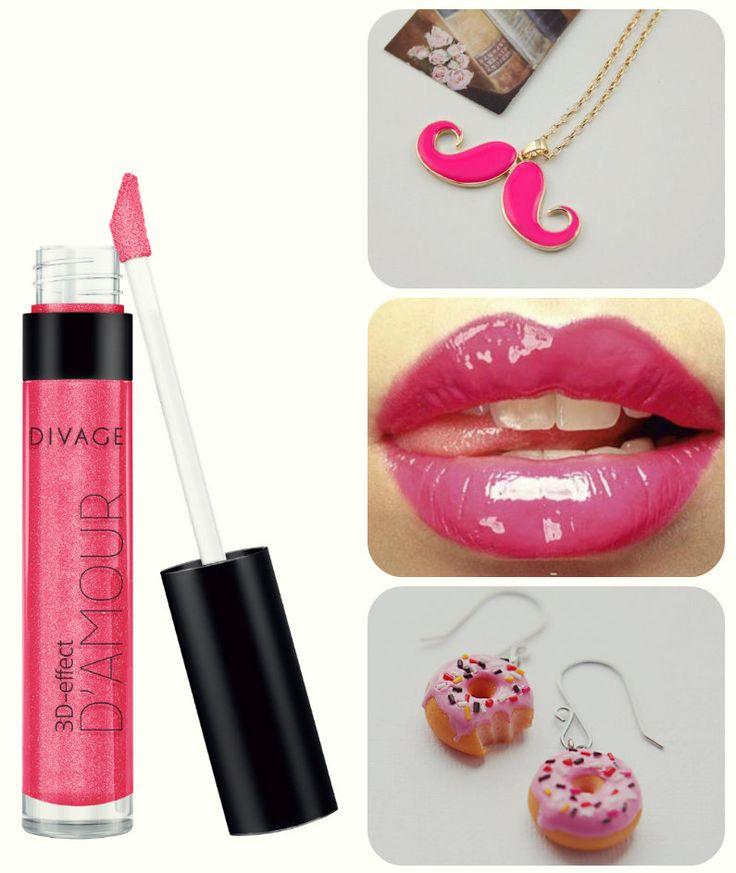 Сияющий блеск для губ D'AMOUR подарит вашим губам соблазнительный объем и блеск. Нелипкая текстура блеска содержит частички натурального перламутра, за счет которых создается ослепительный 3D объем и глянцевый блеск. Насыщенный и стойкий цвет. На коллаже представлен блеск №5521 #divage #lips #pink