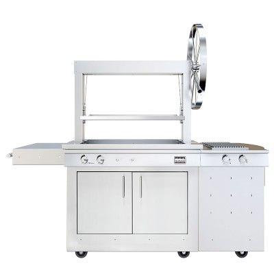 Kalamazoo Gaucho Wood-fired Freestanding Grill with Side Burner, Bulk Liquid Propane