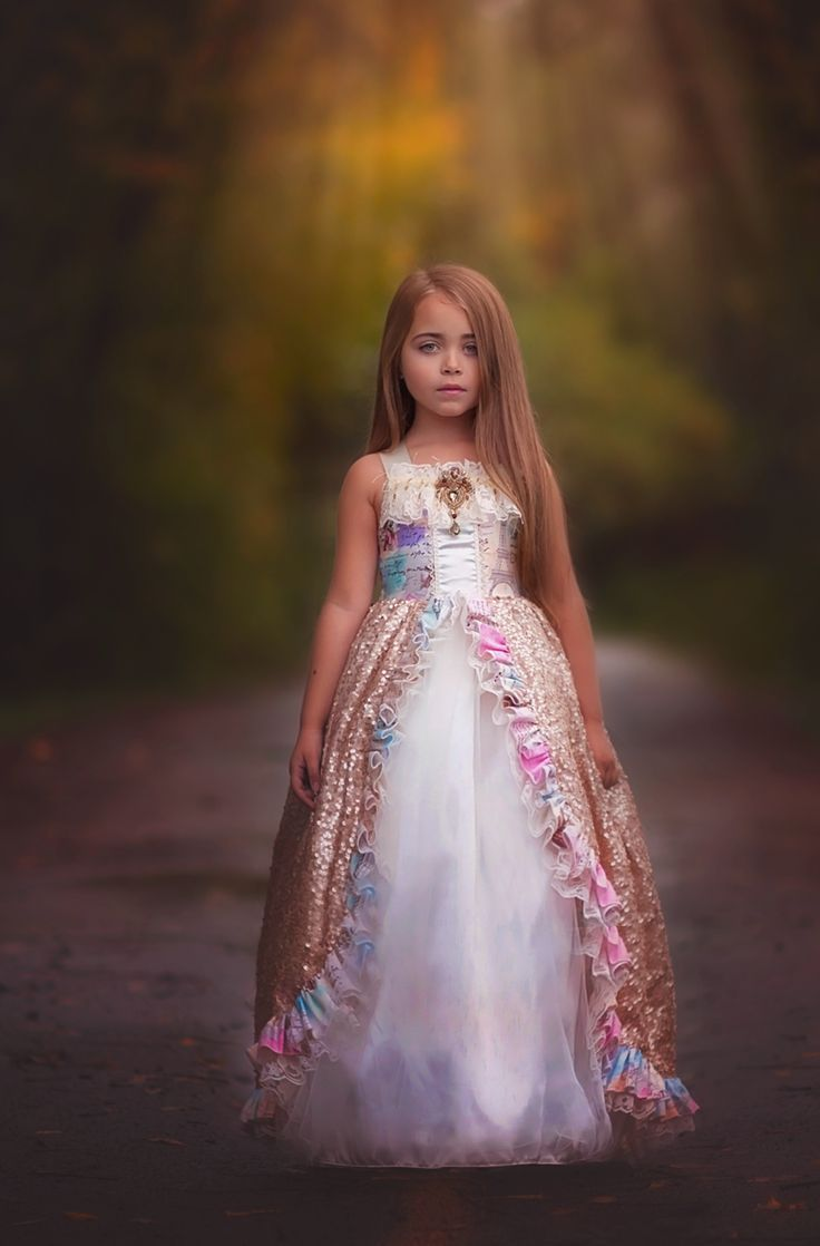 """""""A Day In Paris""""... A Beautiful Girls Ball Gown With Sequin Overlay"""