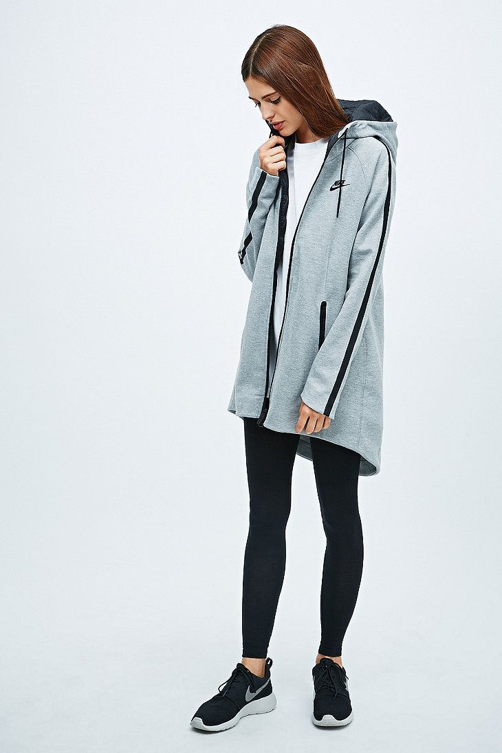 Nike Tech Fleece Aeroloft Parka in Grey