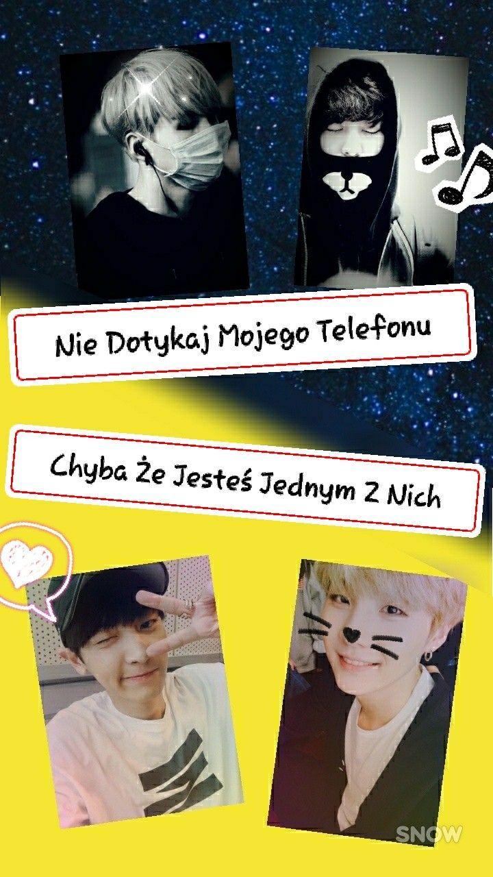 Super piękna tapeta na ekran blokady mojego autorstwa ^^ #lockscreen_kpop #BTS #EXO