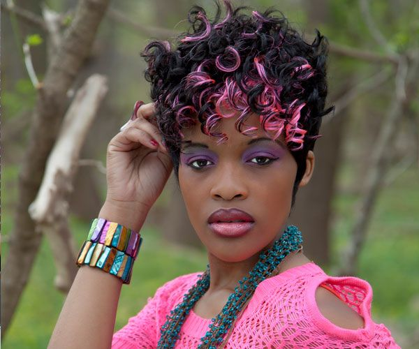 Pinks Hairstyles: 111 Best Images About Black Girls With Pastel Hair Color
