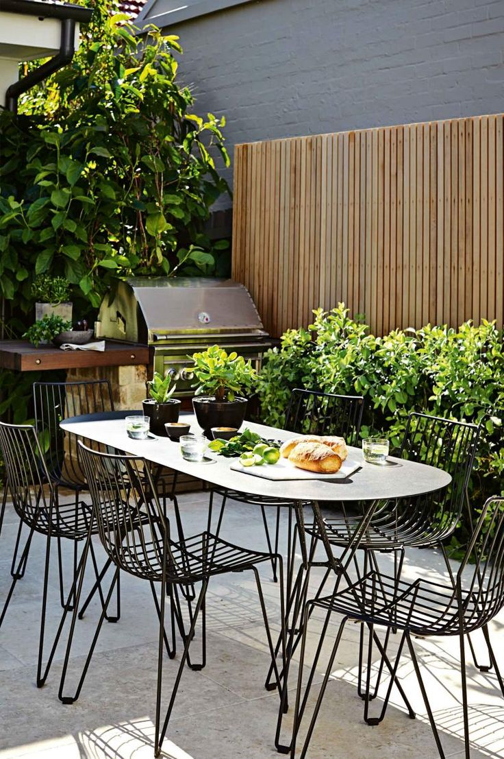 Outdoor dining set bbq mar15 garden small pinterest for Small eating table