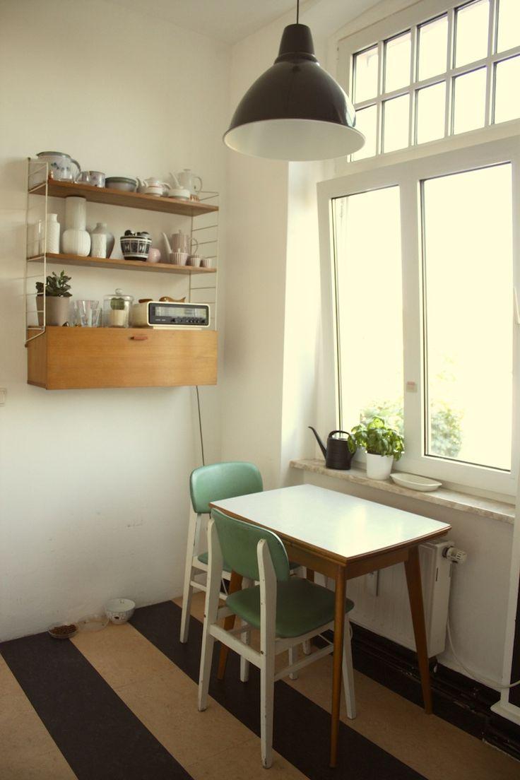 String shelf in the kitchen