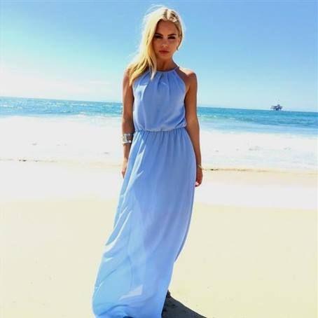 Cool light blue halter maxi dress 2018-2019 Check more at http://bestclotheshop.com/dresses-review/light-blue-halter-maxi-dress-2018-2019/