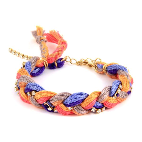 Ettika :: Bracelets :: Friendship :: Passion Fruit Friendship Thread Braided Bracelet