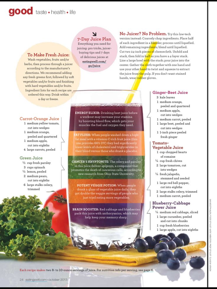 do the juice diet for a month straight, then periodically add in other food [detox]