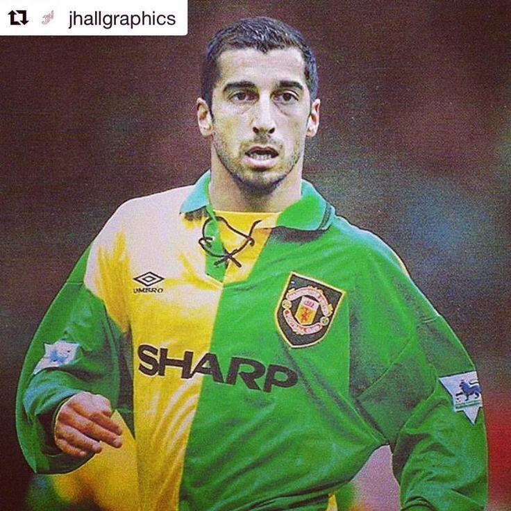Mkhitaryan x Green and Gold from @jhallgraphics #mufc #mkhitaryan #retrofootball #graphicdesign #photoshop #edit #footballdesign #footballshirt #footballshirtcollective (at Old Trafford)