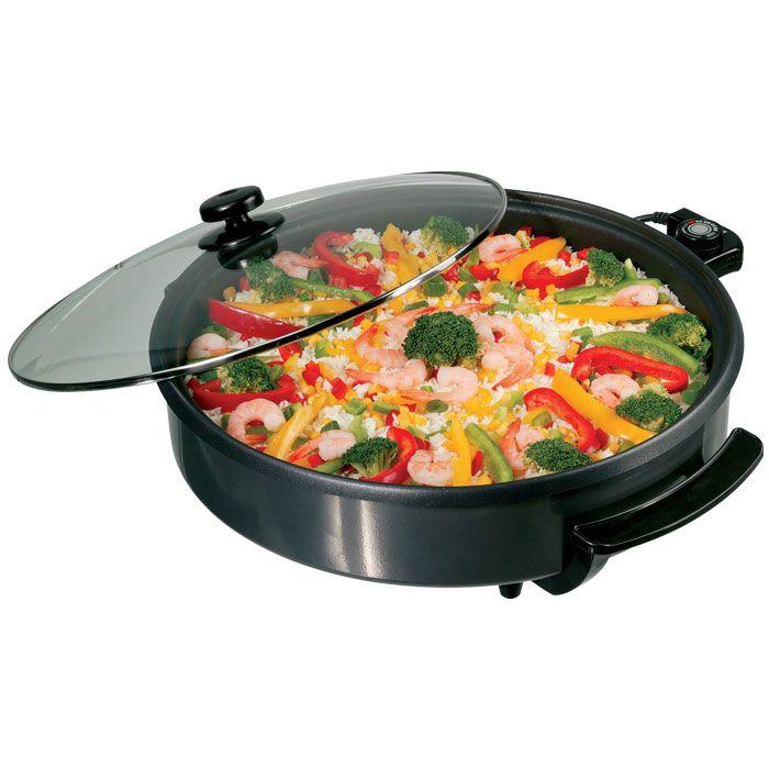 Αντικολλητικό ηλεκτρικό σκεύος, 1400W.- Ιδανικό για υγιεινό μαγείρεμα: βράσιμο, ψήσιμο, μαγείρεμα στον ατμό και απόψυξη- Αντικολλητική επίστρωση- Γυάλινο καπάκι με λαβή, από υλικό υψηλής αντοχής στη θερμότητα- Θερμομονωτικές χειρολαβές- Ρυθμιζόμενος θερμοστάτης, ακόμα κ