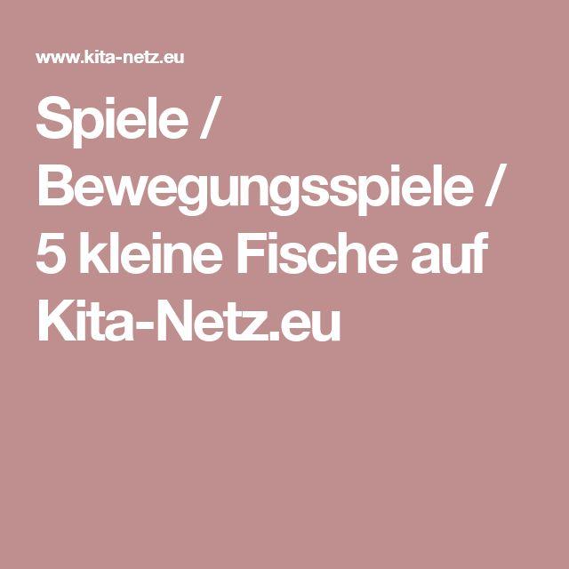 Spiele / Bewegungsspiele / 5 kleine Fische auf Kita-Netz.eu