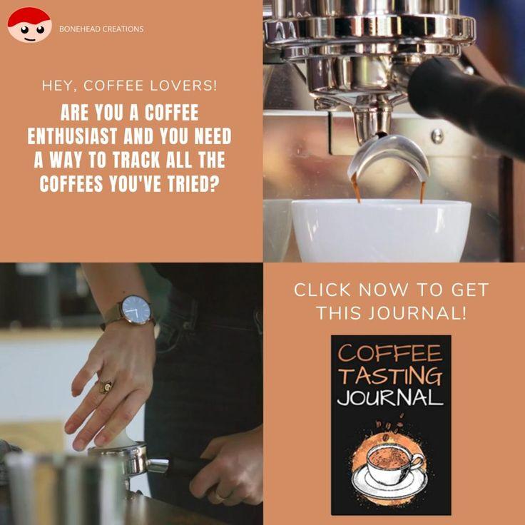 Coffee tasting journal coffee log book including
