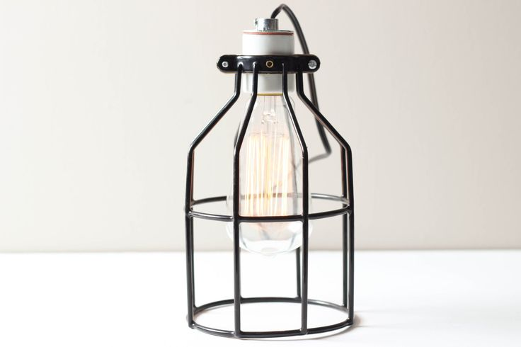 Industrial Cage Table Lamp Industrial Table by WorleysLighting, $60.00