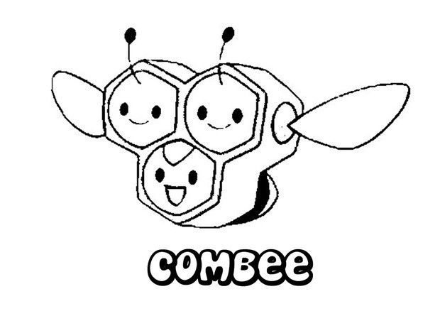 Combee Pokemon Coloring Page More Bug Pokemon Coloring Sheets On