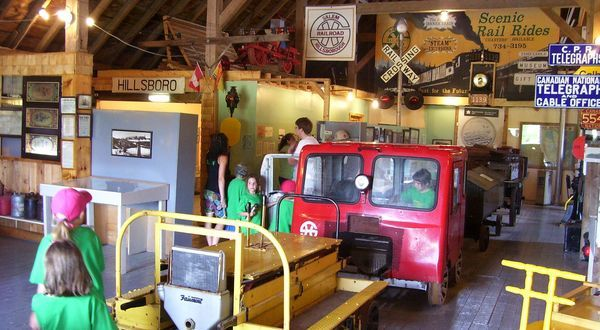 Railway museum, Hillsborough, New Brunswick, Canada