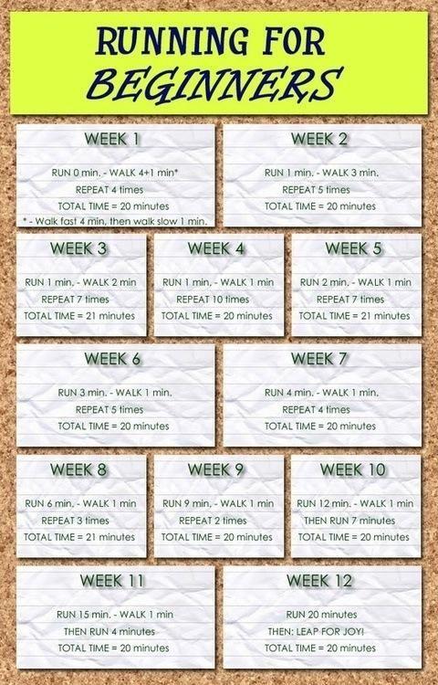 Beginning runner training plan