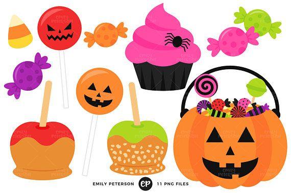Halloween Candy Clip Art Jack O Lantern Clipart Caramel Etsy Apple Clip Art Halloween Clipart Clip Art