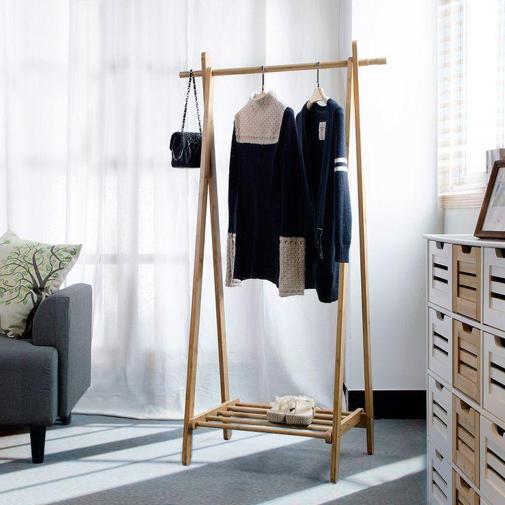 Coat Racks Living Room Furniture Home Bamboo Whole Sale Hot New Portable Modern