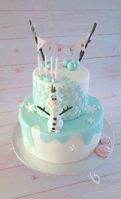Purppurahelmi: Frozen Olaf kakku