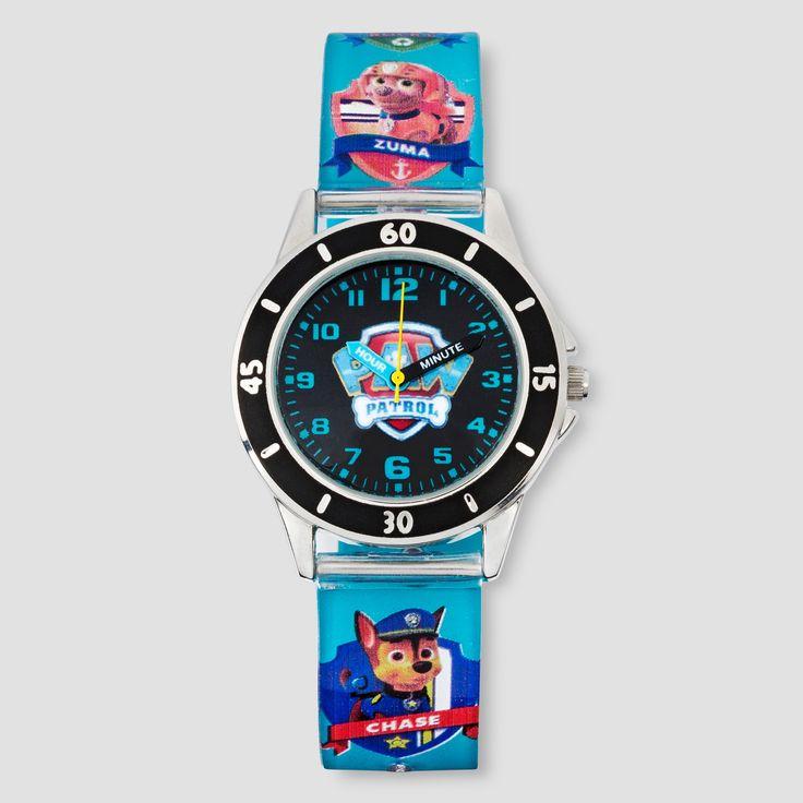 Kids Paw Patrol Analog Watch - Blue, Boy's, Arctic Aqua