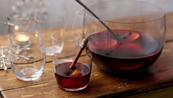 An easy mulled wine recipe for the festive season, brimming with Christmassy spice and a kick of sloe gin.