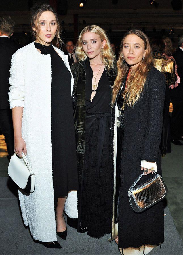 Элизабет (младшая сестра и новая звезда Голливуда), Эшли и Мэри-Кейт Олсен
