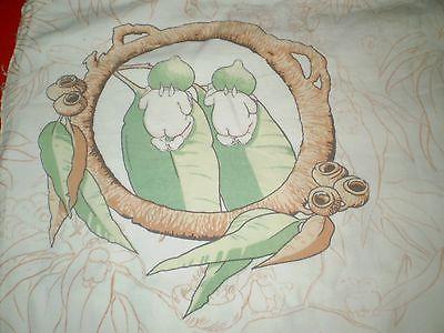Vintage MAY GIBBS GUMNUT BABIES BARE BOTTOM Fabric (22cm x 26cm)