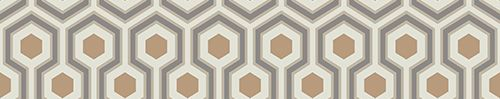 Hicks Hexagon Taupe & Bronze wallpaper by Cole & Son