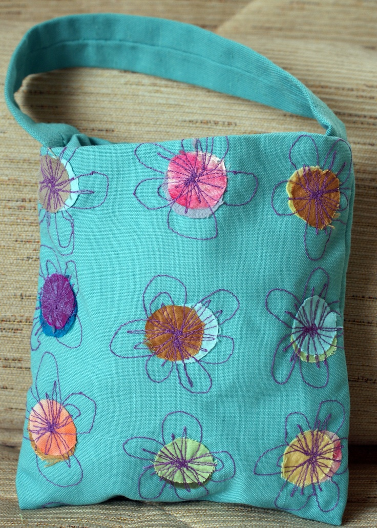 Bag: free machine embroidery on fused fabrics by Kirsty Basram
