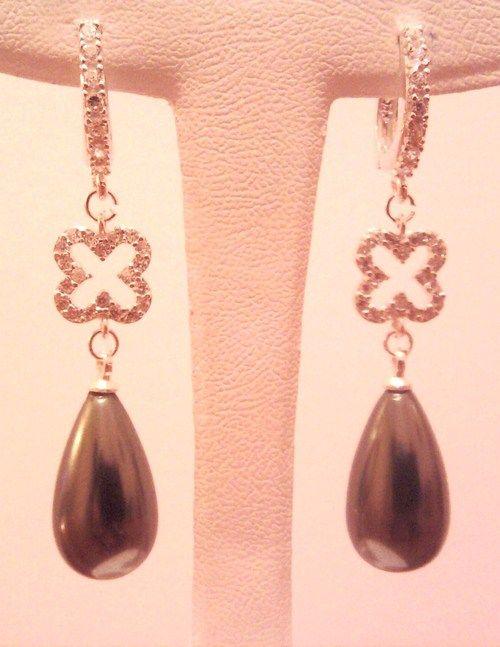 majorca pearl silver earrings mayorka incisi gümüş küpe