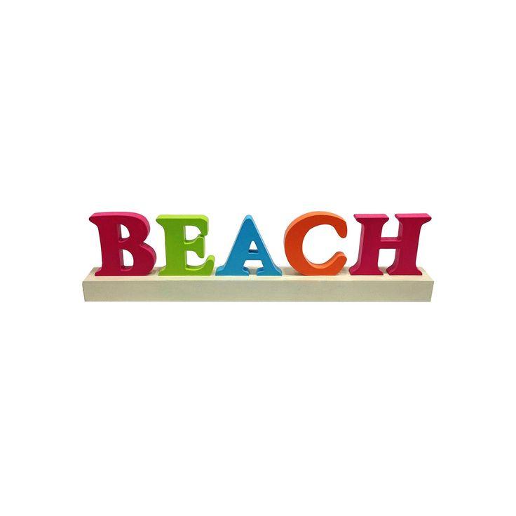 Beach Word Block Table Decor, Multicolor