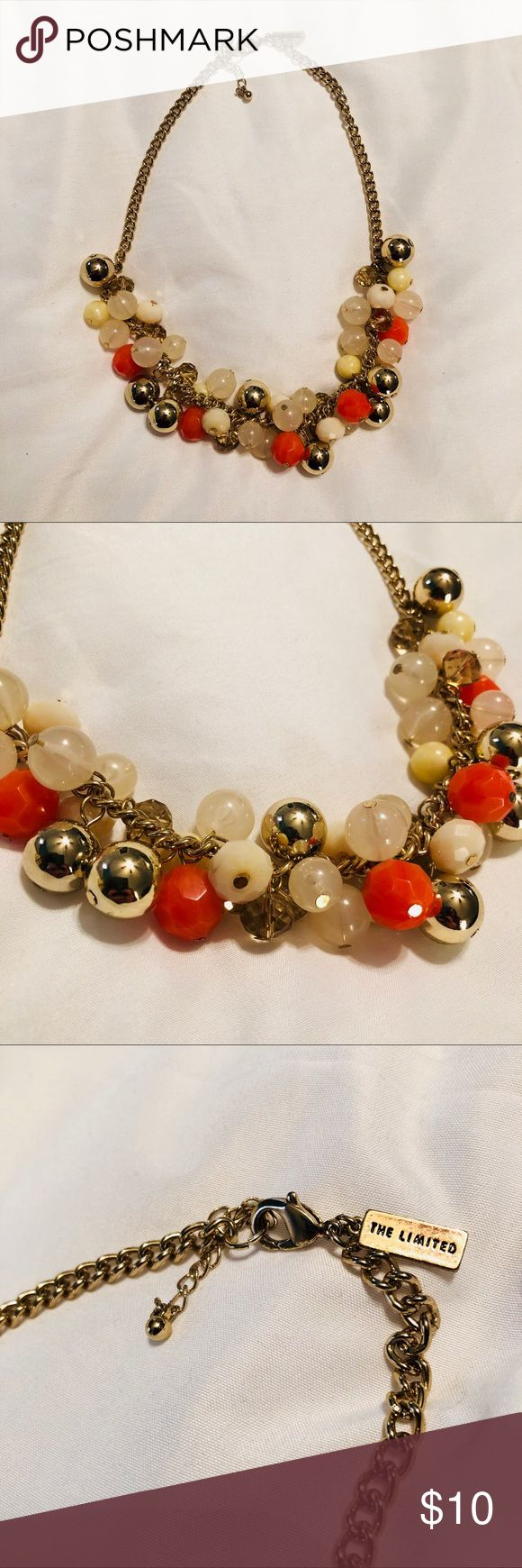 The Limited bauble gold coral statement necklace Cute & classy. Great condition! The Limited Jewelry Necklaces