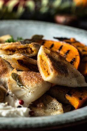 glutenfreie Kürbis-Ravioli ohne Eier (vegan) #glutenfreie