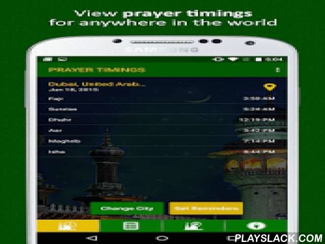 Salah Timings  Android App - playslack.com , Salah Timings provides Islamic prayer timings (Salah) for Muslims around the world. The app determines your current location and calculates the daily prayer (salat / salah / namaz) timings for your local city (supports millions of cities worldwide) and allows you to set reminders on your phone for each prayer time! Features- Prayer times for hundreds of cities worldwide - Manually select any city in any country to calculate the prayer times when…