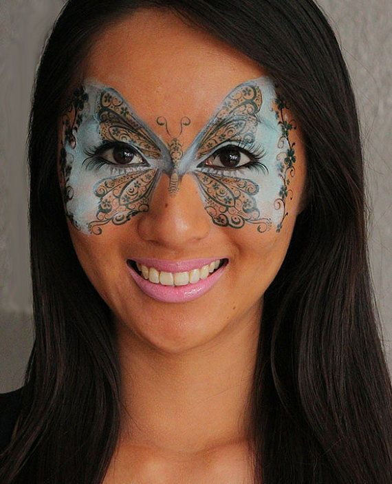 19 best images about facepaint on pinterest doll makeup for Face tattoo makeup