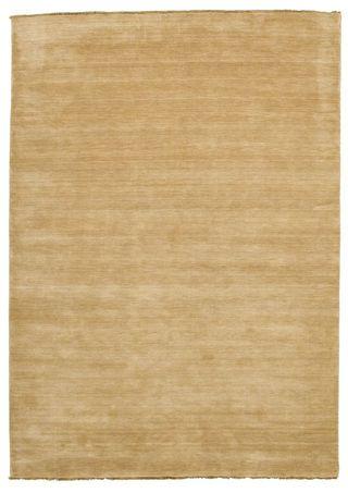 Handloom fringes - Beige Teppich 220x320
