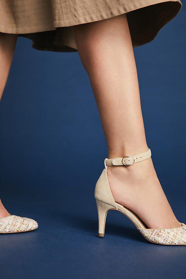 77c6484bf599 Tweed Heels   Fashion   Heels, Anthropologie, Fashion