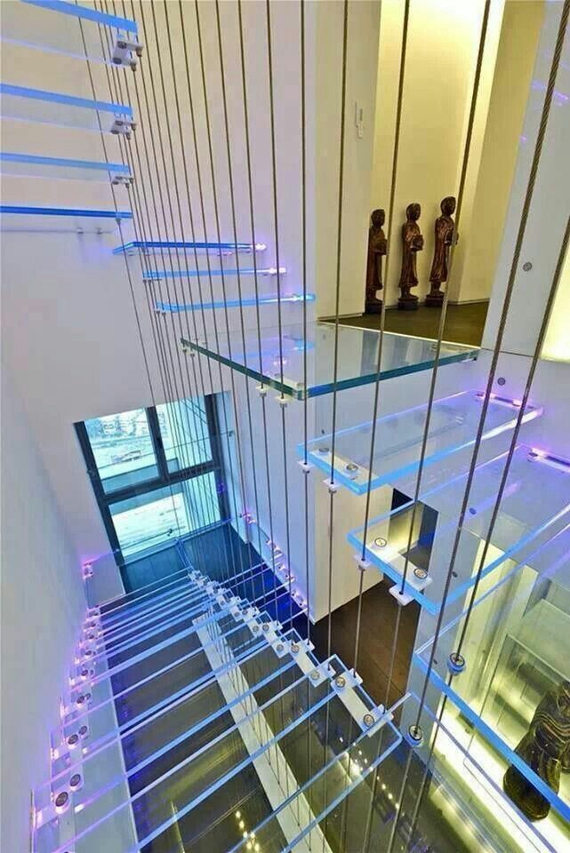 Best Blue Purple Staircase Exterior Stairs P*Nth**S* For 400 x 300