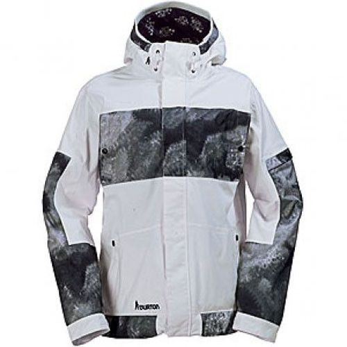 New Burton Mens Shaun White TWC Snowboard Ski Jacket Coat White Sz. M L XL