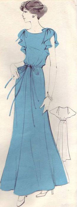 Романтическое платье в пол из шелка! Выкройка.