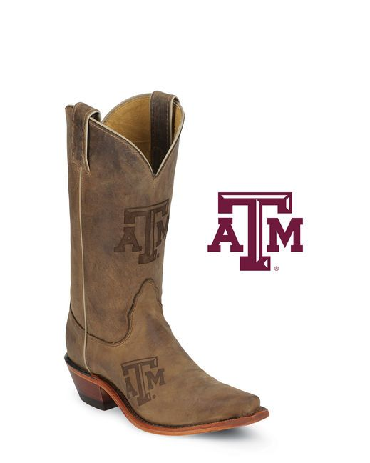 Nocona Women's Texas A & M Aggies Fashion Toe Cowgirl Boot   http://www.countryoutfitter.com/products/15954-texas-a-and-m-aggies-fashion-toe-boots-womens #cowgirlboots