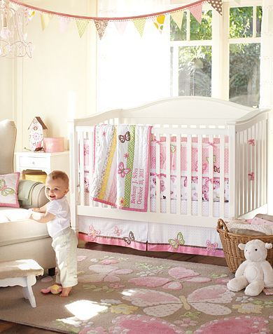 I love the white crib.  Camille Nursery from Pottery Barn
